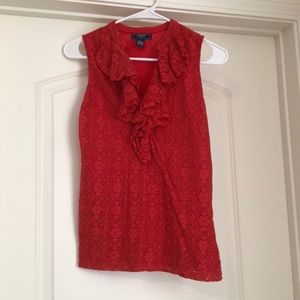 Chaps by Ralph Lauren red blouse